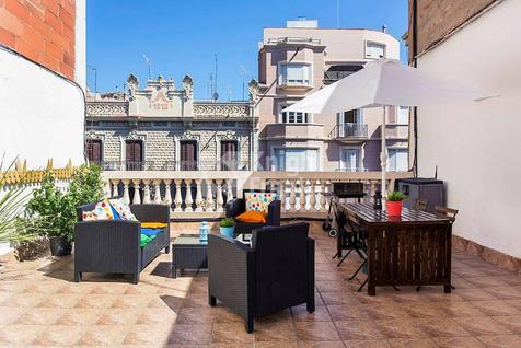 Апартаменты Пентхаус с туристической лицензией в Барселоне в Испании, id ir1831, фото 1