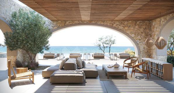 Вилла Вилла с видом на пляж в Греции, id ir579, фото 4